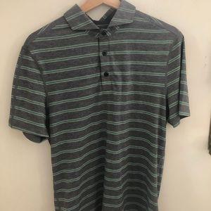 LULULEMON metal vent polo shirt: size small